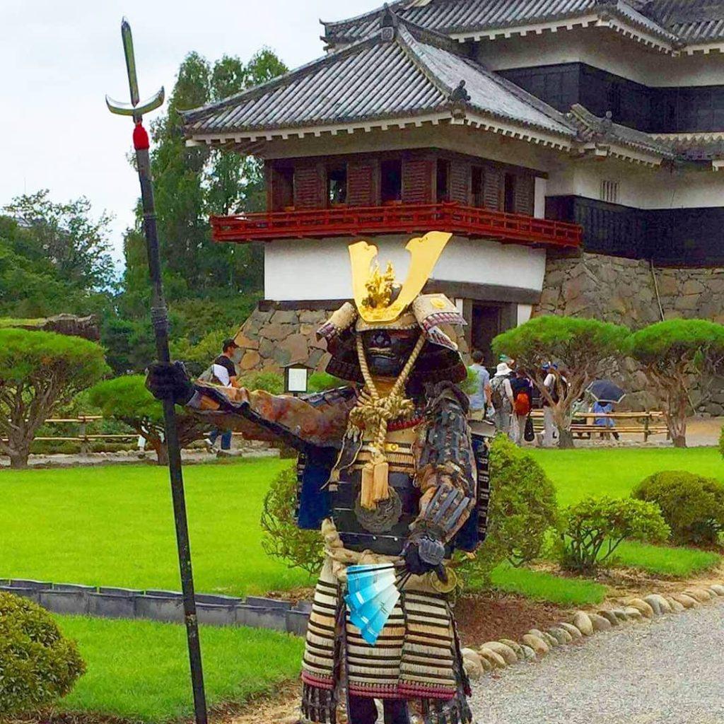 Samourai au château de Matsumoto