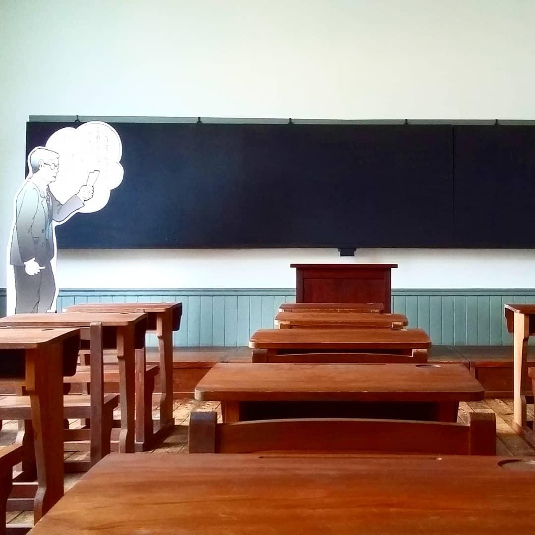une classe à l'école historique