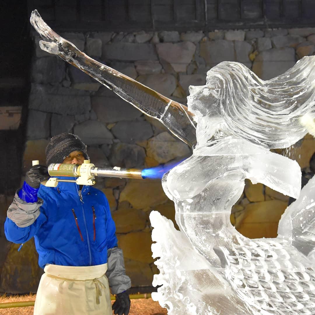 les sculpteurs du Festival de Sculpture sur Glace