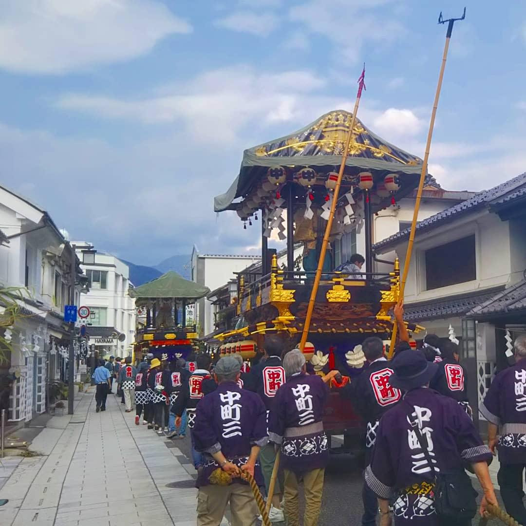 Festival Tenjin dans le quartier de Nakamachi