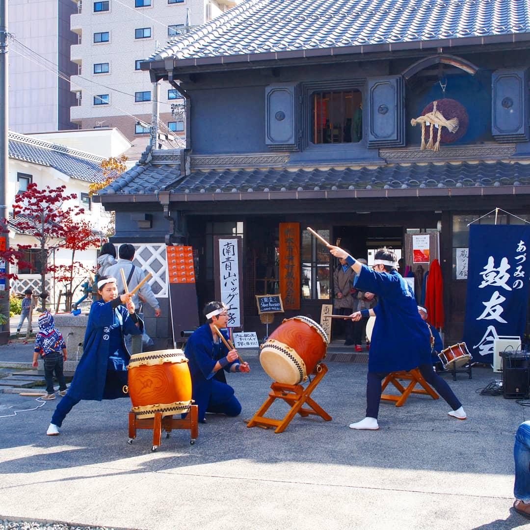 Festival du Château & Citoyens taiko dans quartier de nakamachi