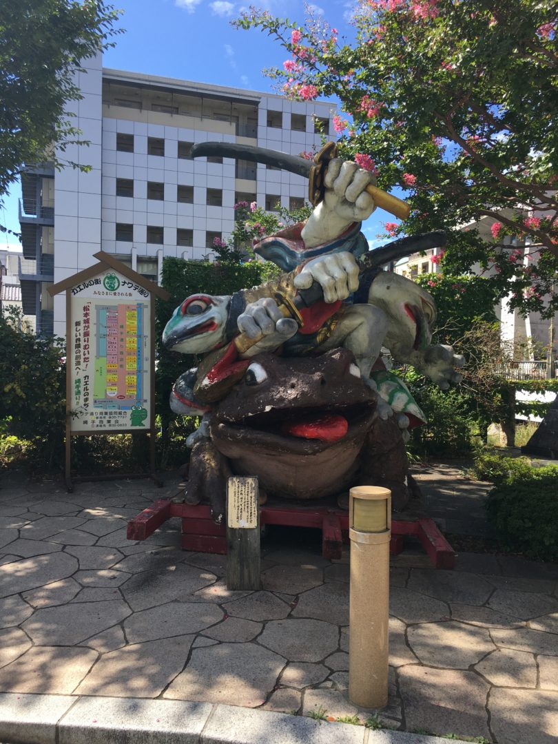 Living and Working in Historical Downtown Matsumoto frog