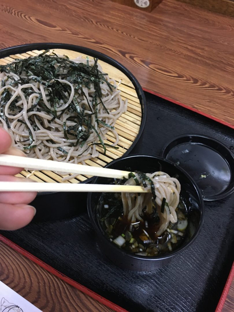 Leisure Time On Nakamachi Street in Downtown Matsumoto soba noodles