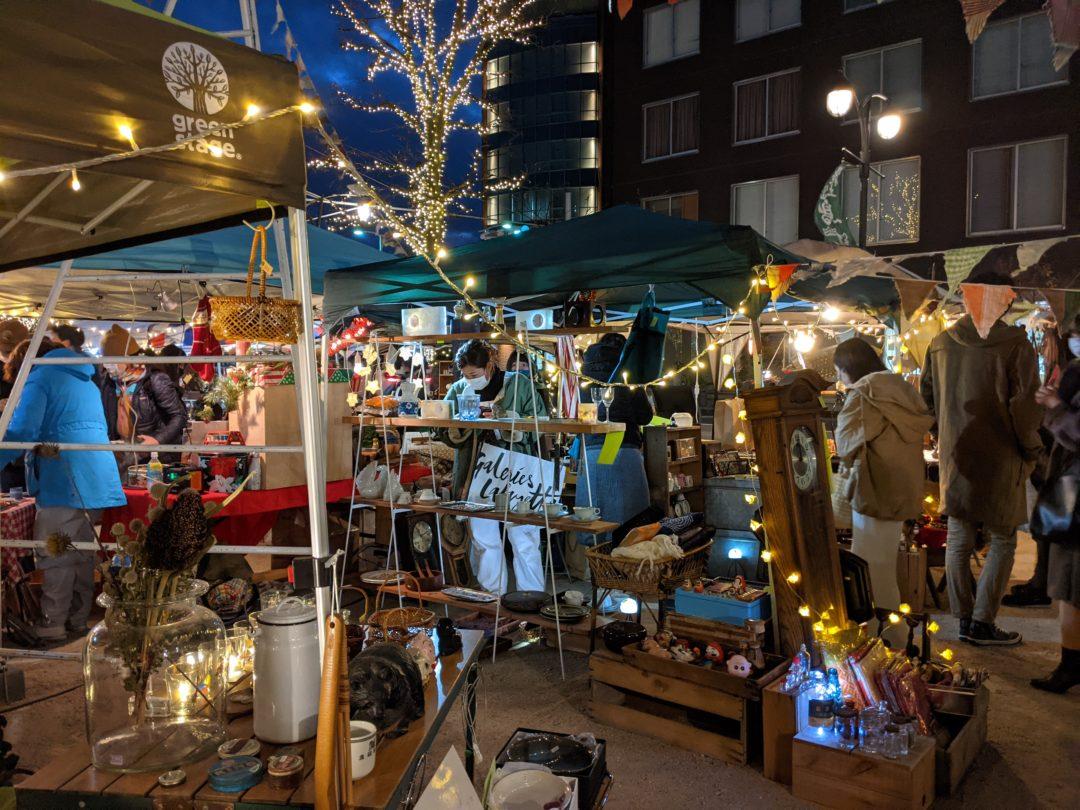 Christmas market Matsumoto night