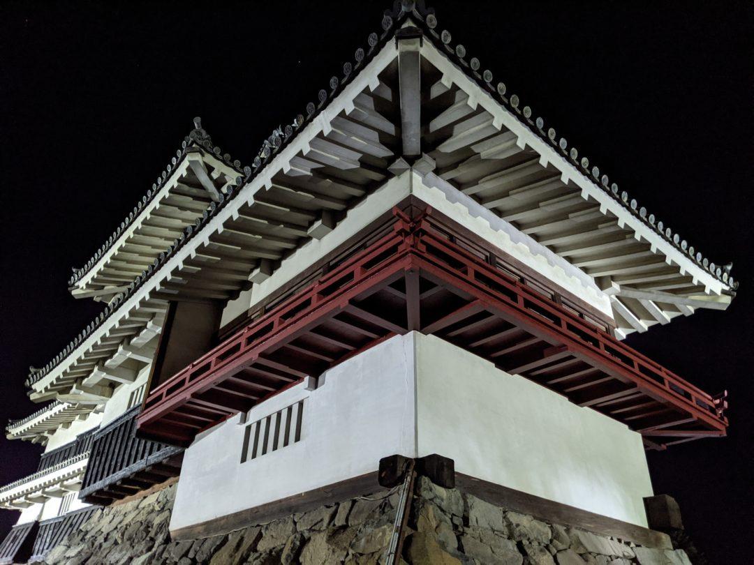 Tour d'observation de la lune château de matsumoto