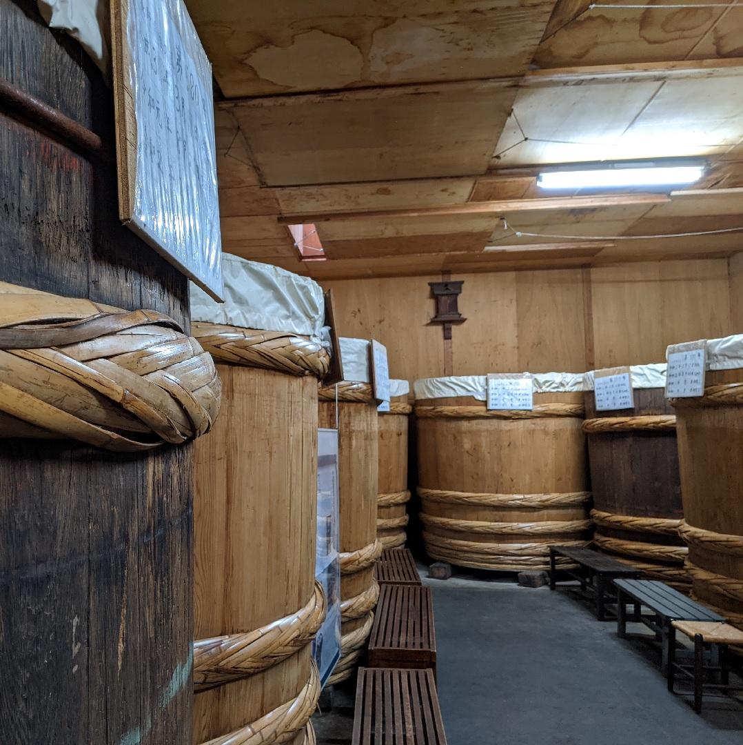 Brasserie de Miso barils en bois