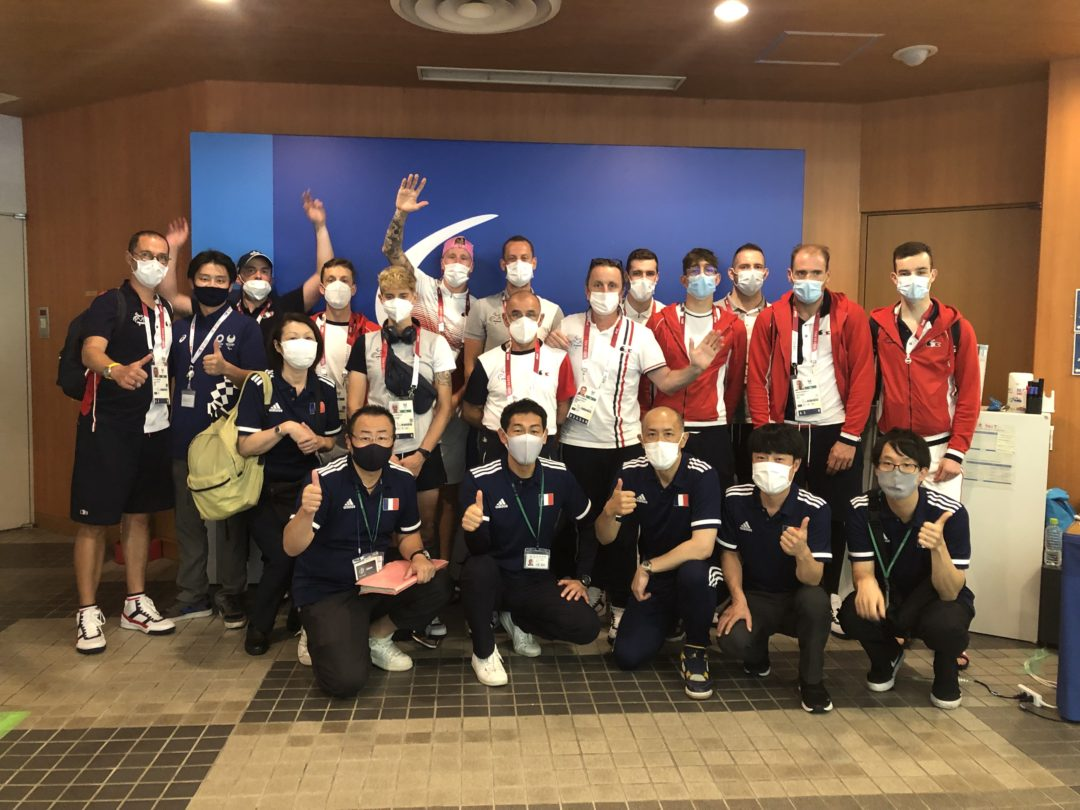 French Paralympic Cycling Team izu olympic village