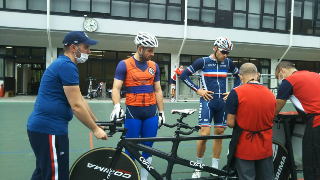 French Paralympic Cycling Team tandem