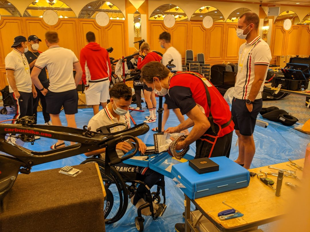 French Paralympic Cycling Team equipment