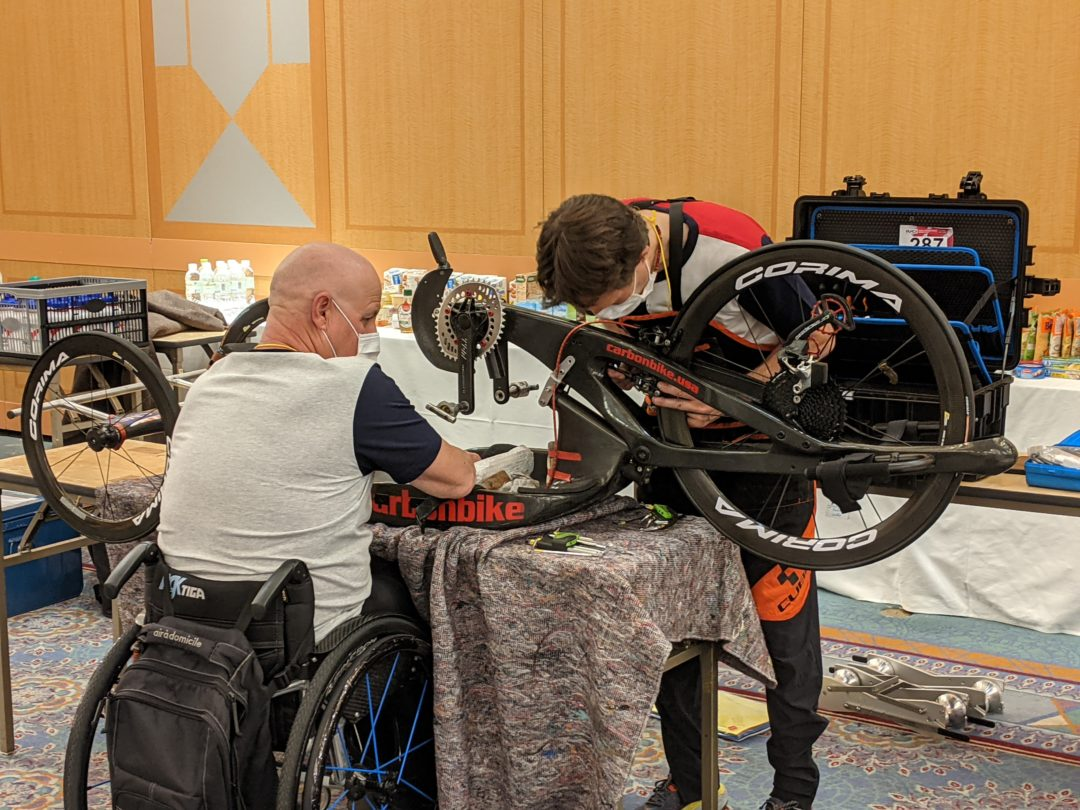 French Paralympic Cycling Team train