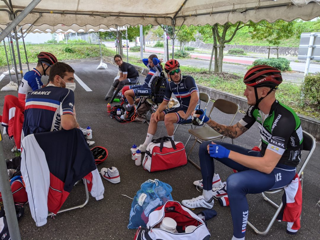 French Paralympic Cycling Team training
